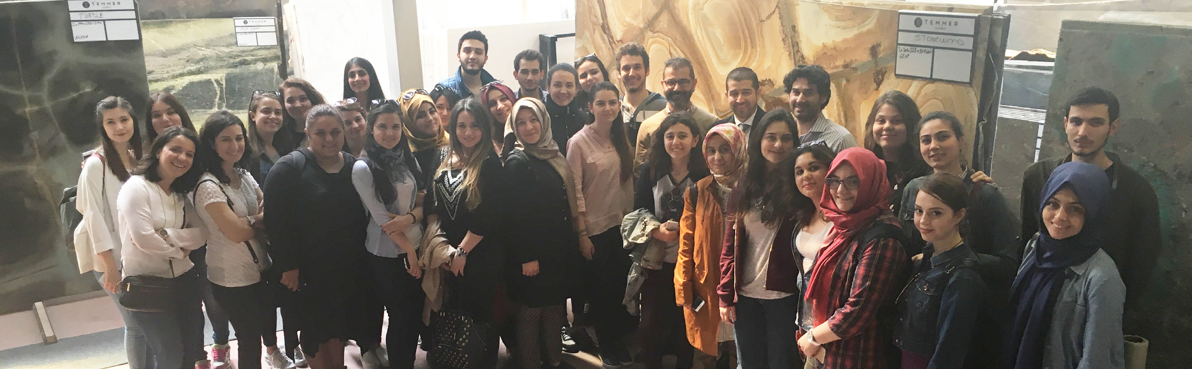 IMIB CONTINUES TO ORGANIZE EVENTS TO EMPHASIZE THE IMPORTANCE OF THE NATURAL STONE AND INTRODUCE IT TO THE YOUNG PROSPECTIVE STUDENTS OF ARCHITECTURE. STUDENTS FROM THE KEMERBURGAZ UNIVERSITY FACULTY OF INTERIOR DESIGN LISTENED ABOUT THE NATURAL STONES FROM THE IMIB AUTHORITIES AND EXPERIENCED THE NATURAL STONE IN SITE ALONG WITH A CORPORATE TRAVEL