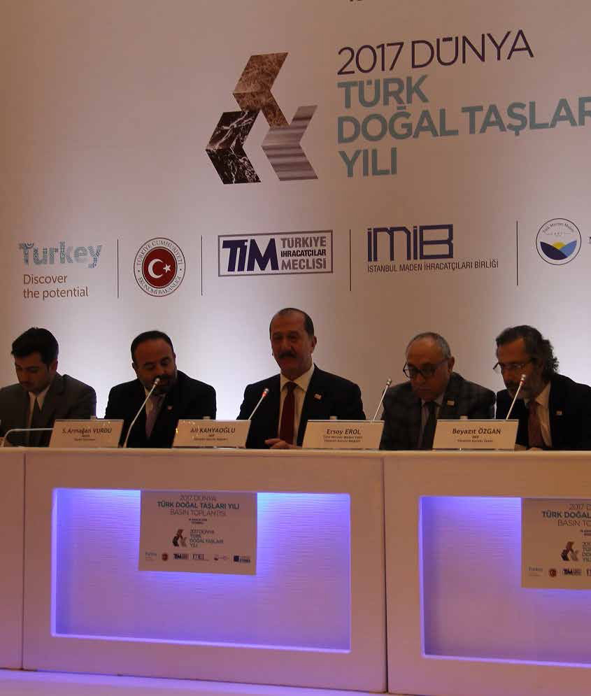 Turkish natural stones will be world-wide presented in 2017 with a 40 million TL of budget Natural stone exports will exceed 2,2 billions in the new year with a new mobile application